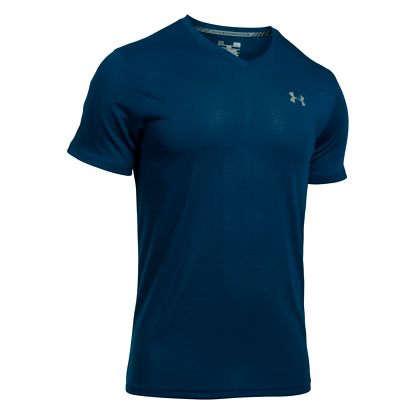 Tričko Under Armour Threadborne Streaker V Neck Černá