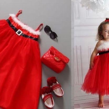 Půvabné dětské šaty nemůžou chybět v žádné karnevalové sbírce.Na výběr ze tří velikostí.
