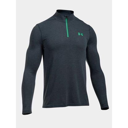Tričko Under Armour Threadborne Fitted 1/4 Zip Černá
