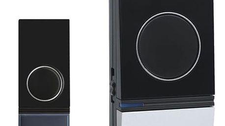 Zvonek bezdrátový Solight 1L29, do zásuvky, 200m (1L29) černý/stříbrný
