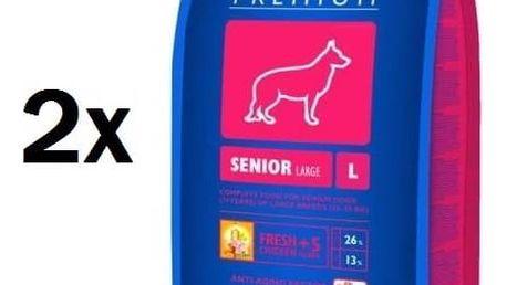 Granule Brit Premium Dog Senior L 2 x 15 kg + Doprava zdarma