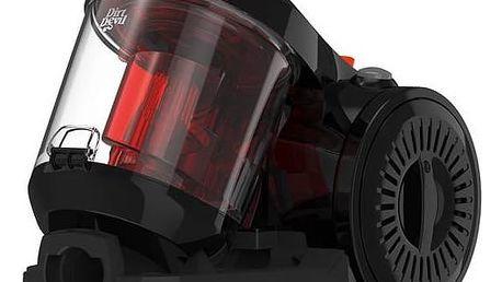 Vysavač podlahový Dirt Devil Ultima black DD2620-2 černý + Turbohubice Dirt Devil M219 MINI v hodnotě 399 Kč + Doprava zdarma