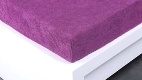 XPOSE ® Bambusové froté prostěradlo dvoulůžko - fialová 180x200 cm