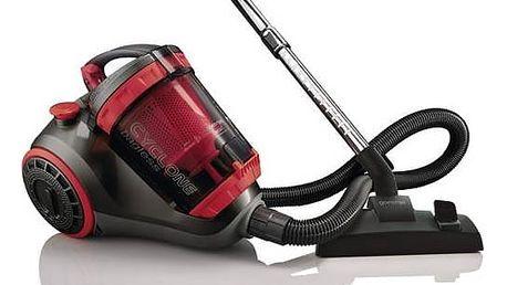 Vysavač podlahový Gorenje Twist VCED01TBKRCY černý/červený + Doprava zdarma