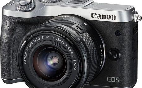 Canon EOS M6 + EF-M 15-45mm IS STM + EF-M 55-200mm IS STM, stříbrná - 1725C032
