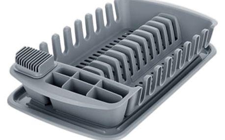 TESCOMA odkapávač s podnosem CLEAN KIT, šedý