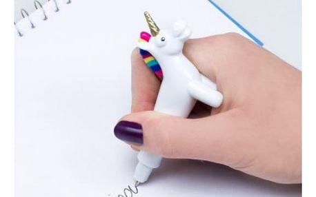 Černé kuličkové pero Jednorožec