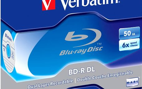 Verbatim BD-R DL, 6x, 50GB, 5 ks, jewel - 43748