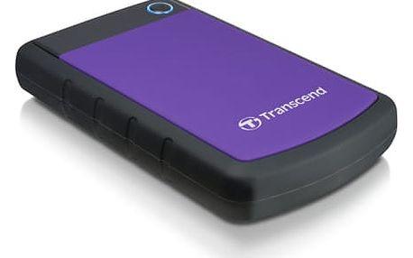 """Externí pevný disk 2,5"""" Transcend 2TB (TS2TSJ25H3P) černý/fialový"""