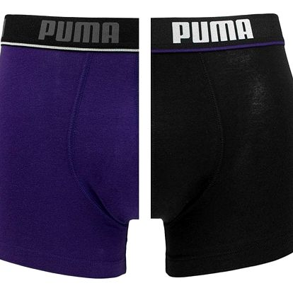 2PACK pánské boxerky Puma purple black long L