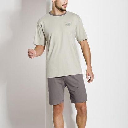 Pánské pyžamo Regina 501 M-XL kr/rmix,M