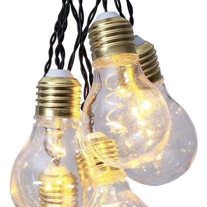STAR TRADING Světelný LED řetěz Glow - 5 žárovek, černá barva, čirá barva