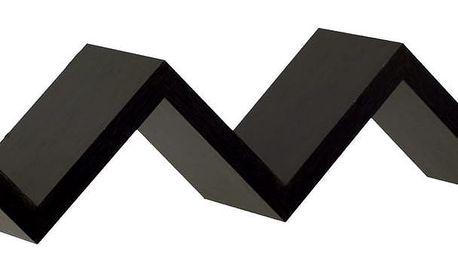 Nástěnná polička na knihy, černá