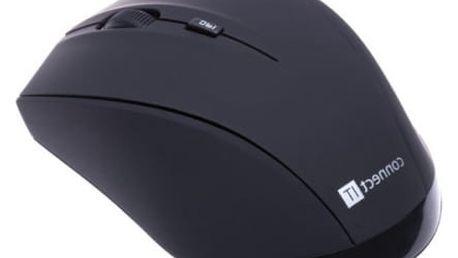Myš Connect IT Travel s pouzdrem (CI-457) černá / laserová / 5 tlačítek / 1600dpi
