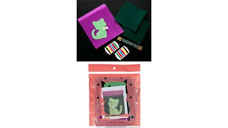 Kreativní sada vyšívání - peněženka Kočka