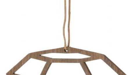 ferm LIVING Dřevěná ozdoba Diamond, hnědá barva, dřevo