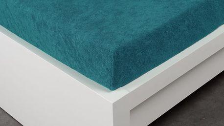 XPOSE ® Froté prostěradlo Exclusive - temně modrá 120x200 cm