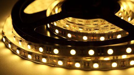 Bílé a barevné samolepící LED pásky včetně nabídky příslušenství