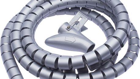 CONNECT IT trubice pro vedení kabelů WINDER, 2,5m x 20mm, šedá - CI-680