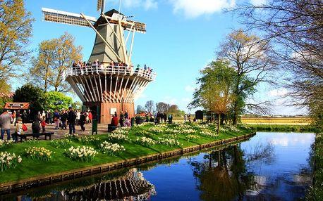 Okruh Holandskem - Keukenhof, Amsterdam, sýry i Zaanse Schans