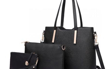 SET: Dámská černá kabelka Ariana 6648