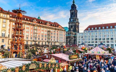 Drážďany s vánočními trhy, prohlídkou města i nakupováním v Primarku