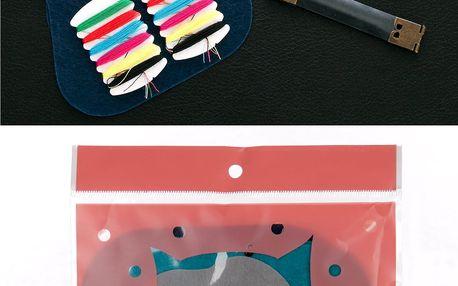Kreativní sada vyšívání - peněženka Slon