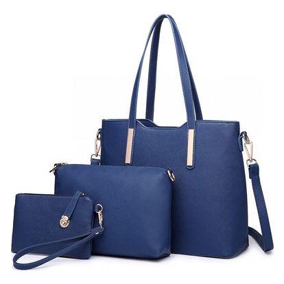 SET: Dámská námořnicky modrá kabelka Ariana 6648