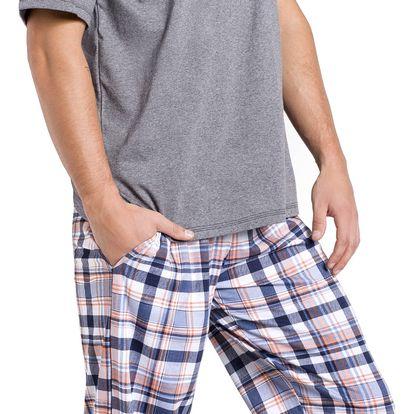 Pánské pyžamo Adam šedé M
