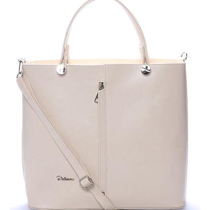 Luxusní béžová dámská kabelka - Delami Catherine béžová