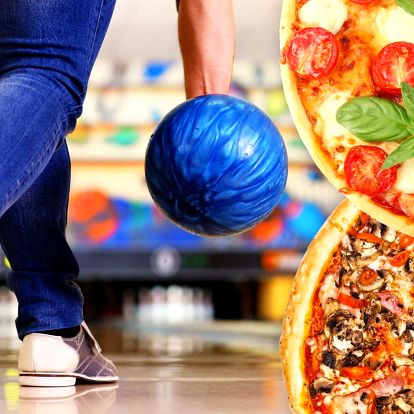 Dvě pizzy podle vašeho gusta a hodina bowlingu