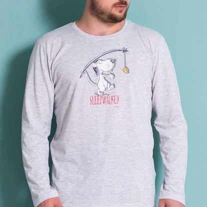 Pánské pyžamo dlouhé Sleepwalker šedá S
