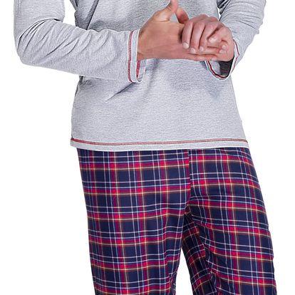Pánské pyžamo Jack šedé M