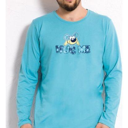 Pánské pyžamo dlouhé Pes šedá S