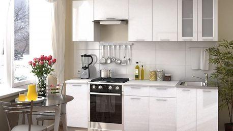 Kuchyně VALERIA 240 bílý metalic