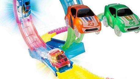 HIT Vánoc - svítící autodráha Magic Track