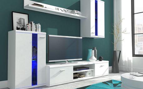 Obývací stěna LITE bílá