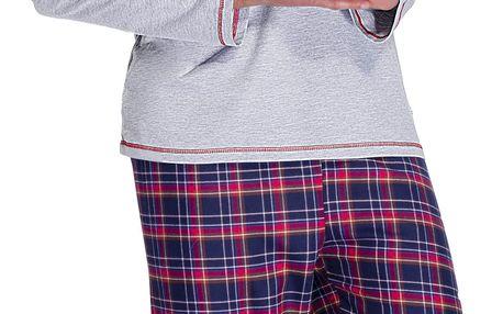 Pánské pyžamo Jack šedé L