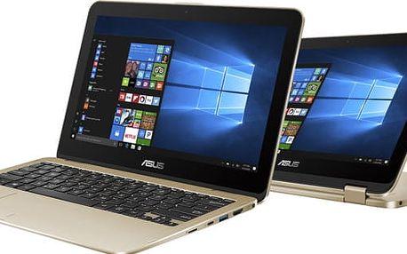 ASUS VivoBook Flip TP203NA, zlatá - TP203NA-BP034TS