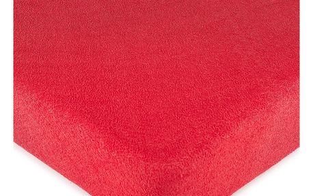 4Home froté prostěradlo červená, 160 x 200 cm