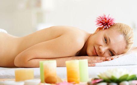 40minutová relaxační masáž zad, krku a šíje