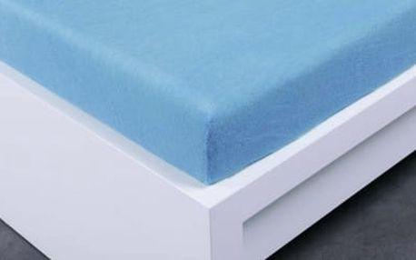 XPOSE ® Froté prostěradlo Exclusive dvoulůžko - světle modrá 160x200 cm