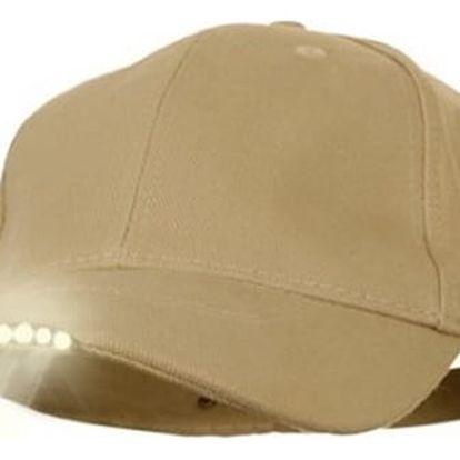 Originální svítící LED kšiltovka. Vhodné jak pro turisty, horolezce, cyklisty, táboření, atd.