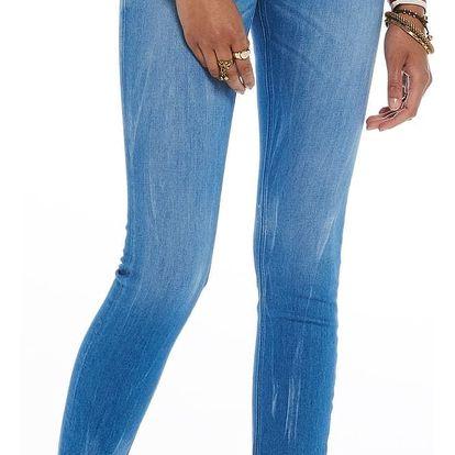 Scotch&Soda světle modré džíny La Bohemienne - Bright Blue Mid-rise Skinny Fit