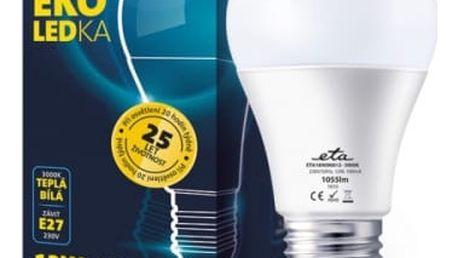 Žárovka LED ETA EKO LEDka klasik, 12W, E27, teplá bílá (A60-PR-1055-16A) bílá