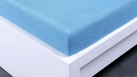 XPOSE ® Froté prostěradlo Exclusive dvoulůžko - světle modrá 200x220 cm