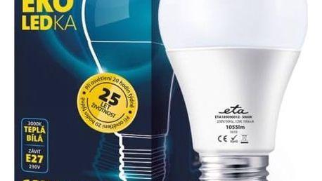 Žárovka LED ETA EKO LEDka klasik, 12W, E27, teplá bílá (A60-PR-1055-16A) bílá + Doprava zdarma