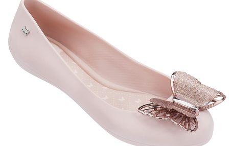 Zaxy pudrové baleríny Butterfly Fem Light Pink