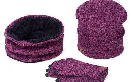Dámský set čepice šály a rukavic Charli