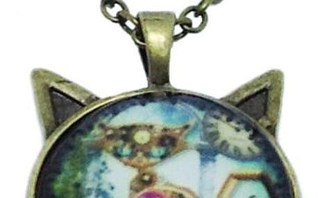 náhrdelník s motivem kočky